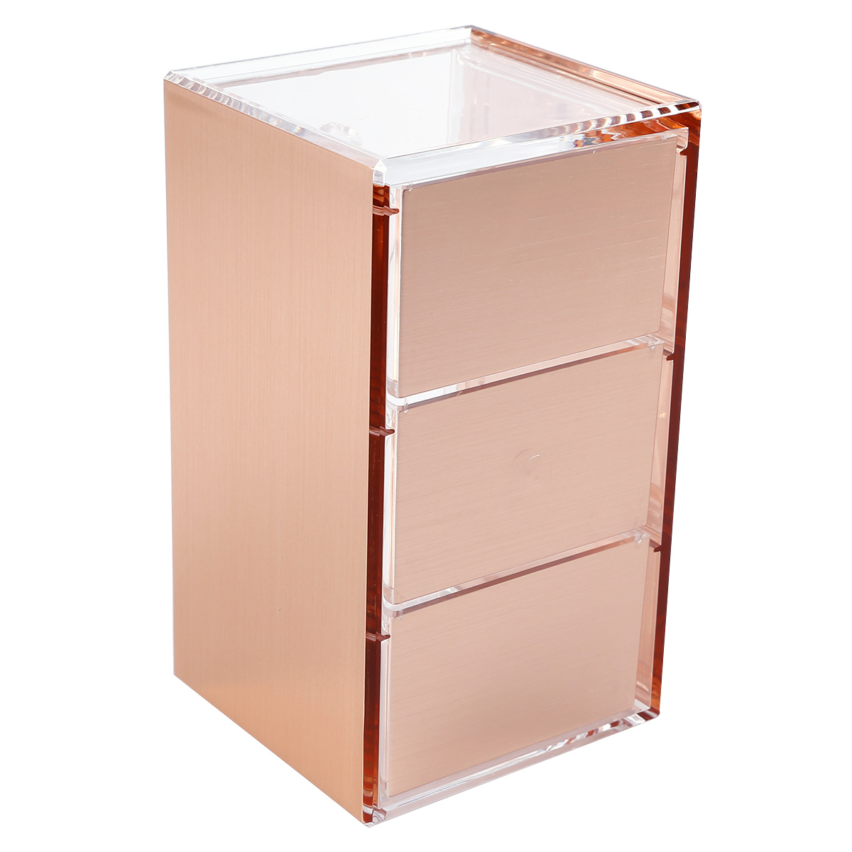 3 ebenen rosegold acryl kosmetik organizer aufbewahrung kosmetikbox schubladen ebay. Black Bedroom Furniture Sets. Home Design Ideas