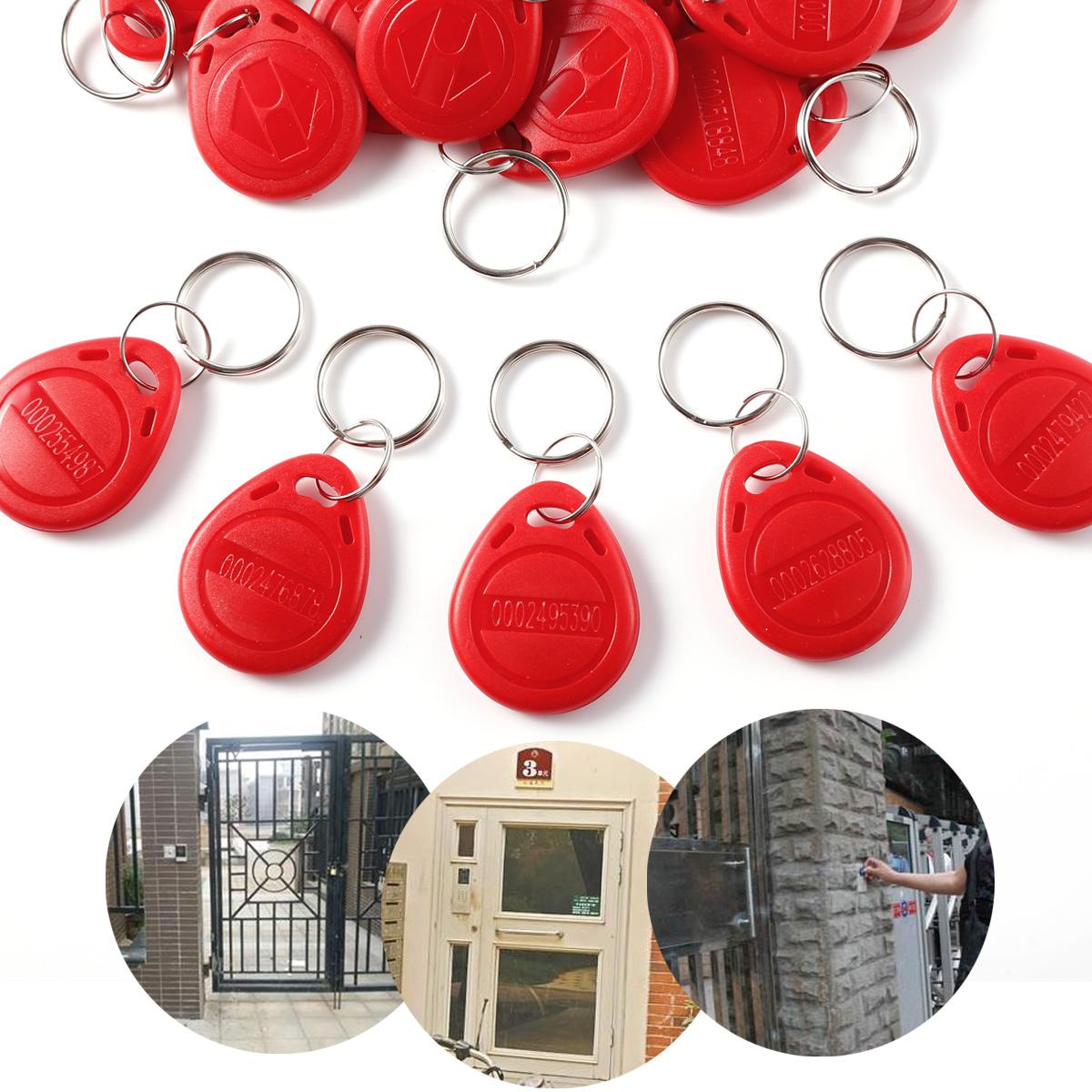 50er Rot RFID TK450 EM450 125KHz Tür Eintrag Zugang Schlüssel Steuerkarte