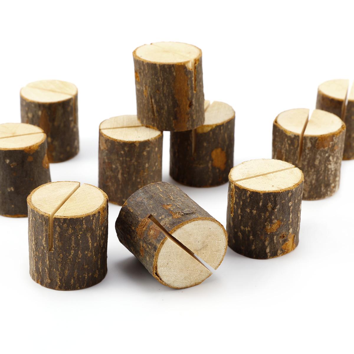100 x Holz Holzteg Tischkartenhalter Platzkartenhalter Notizhalter ...