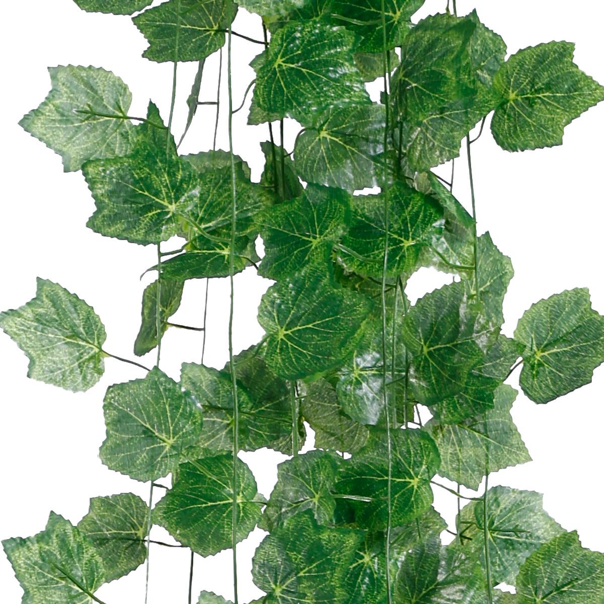12 x k nstliche efeu girlande garten deko h ngend pflanzen kunstpflanze 2 2m ebay. Black Bedroom Furniture Sets. Home Design Ideas