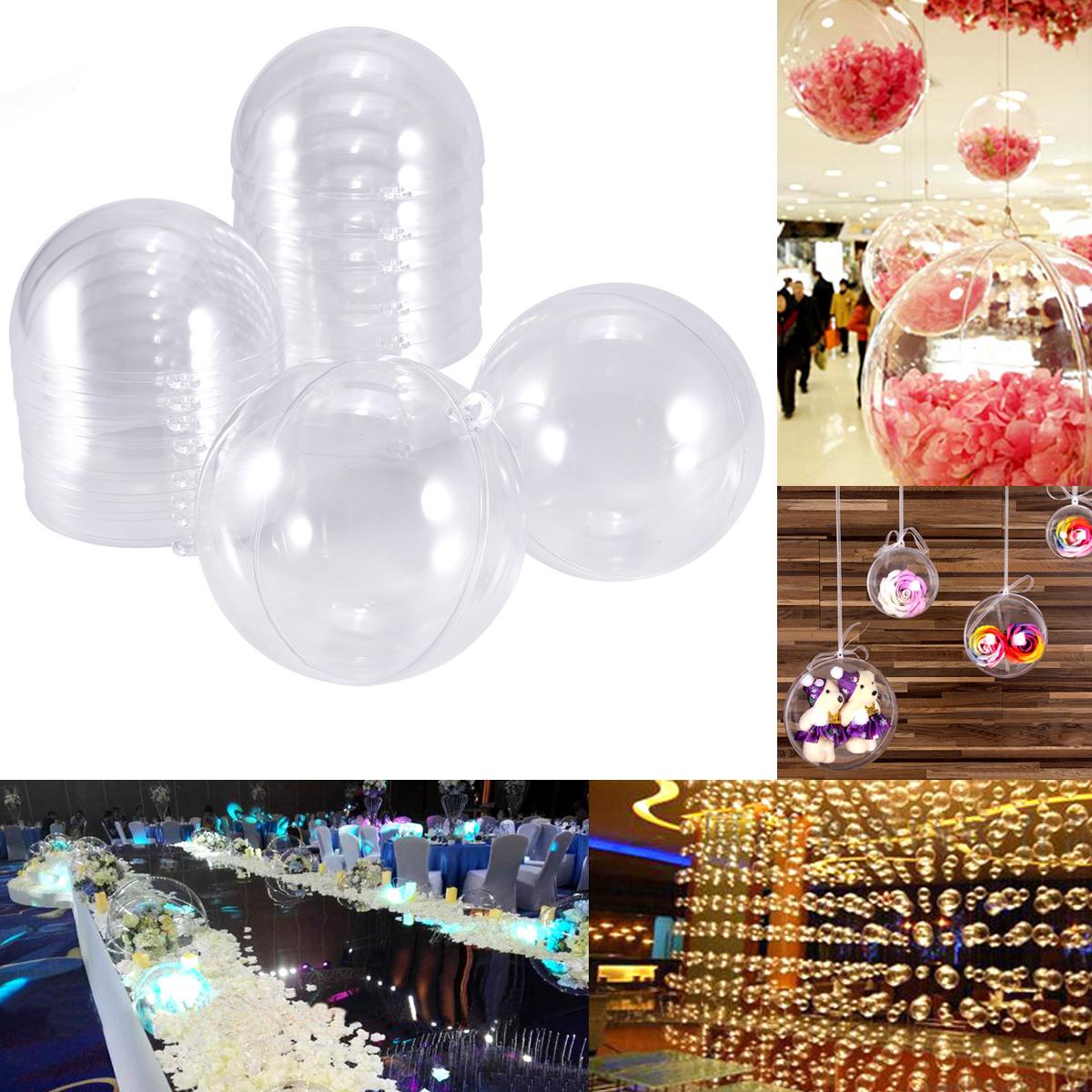 253206f0156 Bola de Navidad transparente para rellenar 10 12cm Bola de plástico ...