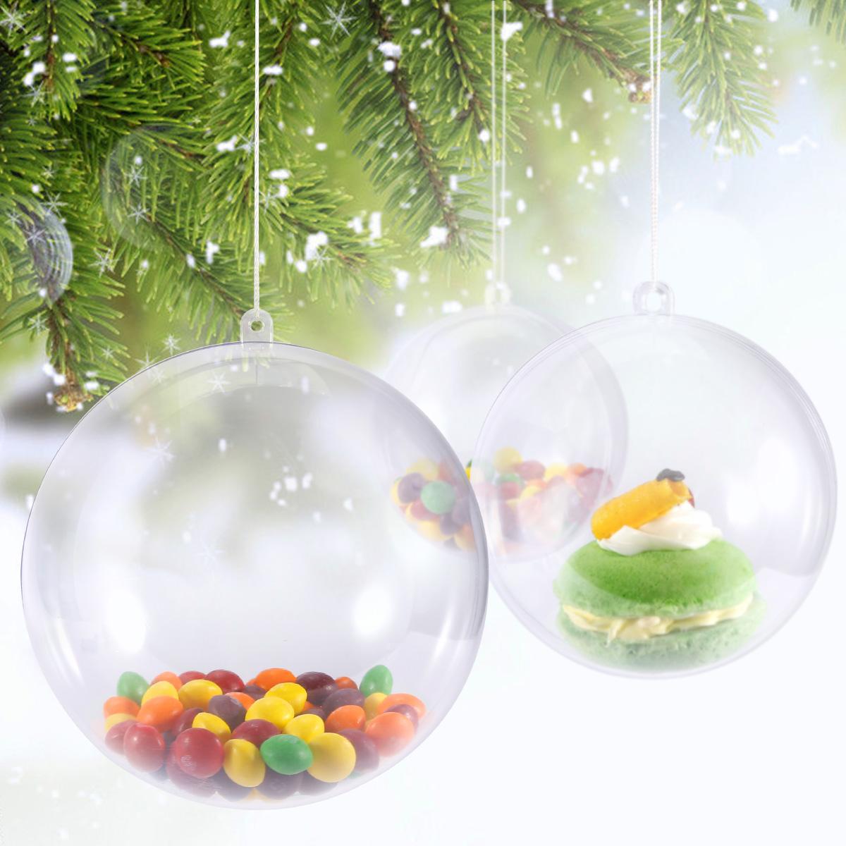 Bola De Navidad Transparente Para Rellenar 1012cm Bola De Plastico - Bolas-de-navidad-transparentes