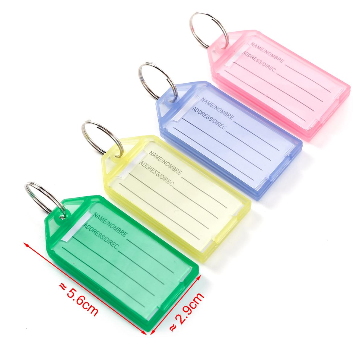 bunt Schlüsselschilder mit Etiketten Schlüsselanhänger zum Beschriften 60 Stk