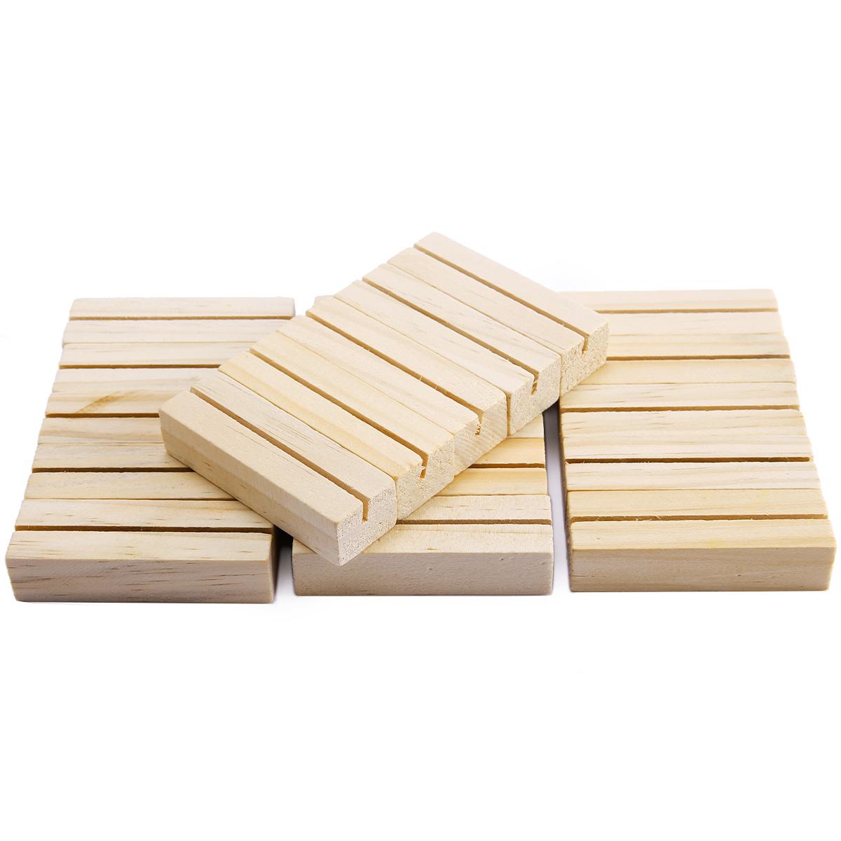 20 x Holz Kartenhalter Tischnummer Halter Tischkartenhalter Fotoständer Party
