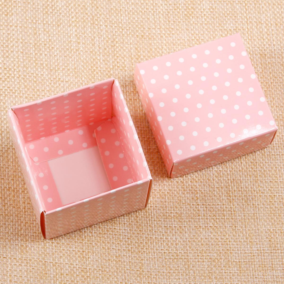 Pack de 50 Nati Caja de Regalo 7.5x7.5x3cm - Cajita de Papel Kraft Cajas de Cart/ón para Joya Dulces Jab/ón Hecho a Mano Embalaje de Regalo para Boda Cumplea/ños Bautizo L