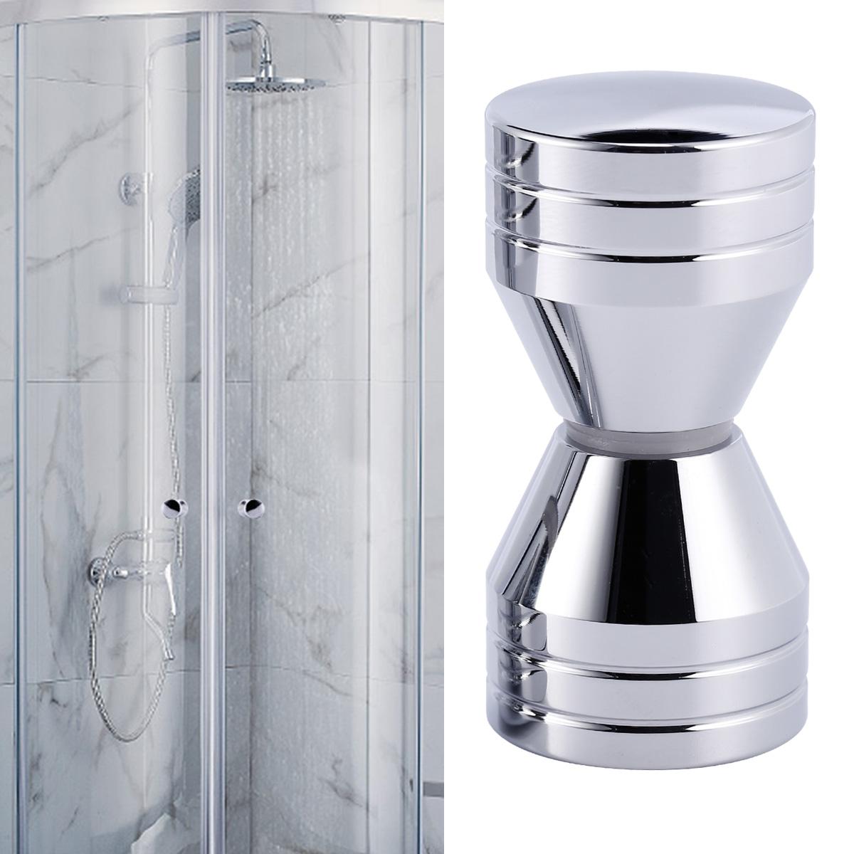 N\A Lot de 2 boutons de porte de douche en acier inoxydable brillant pour porte de douche