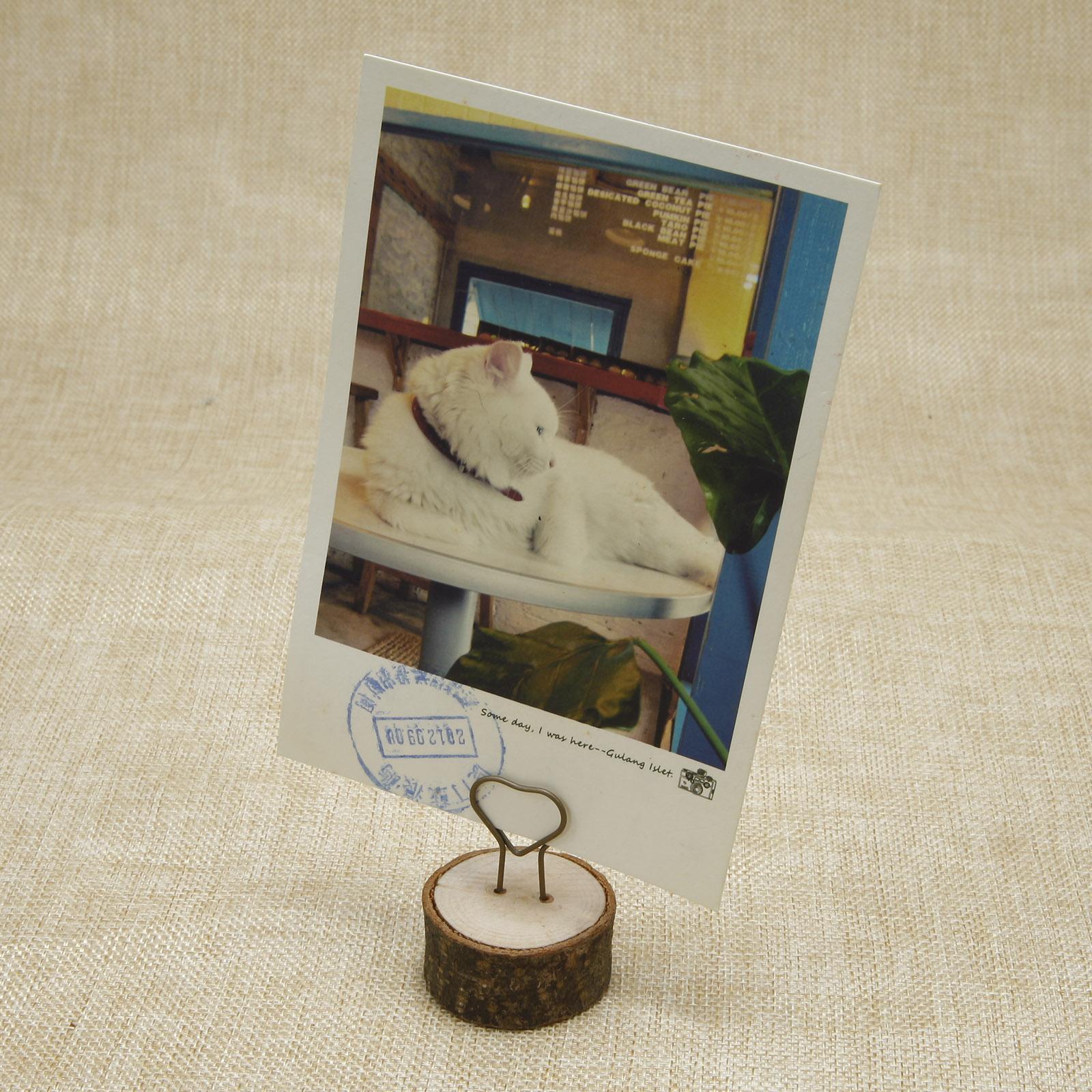 10 x Herz Holz Holzsteg Tischkartenhalter Fotohalter Kartenhalter Memo Clip