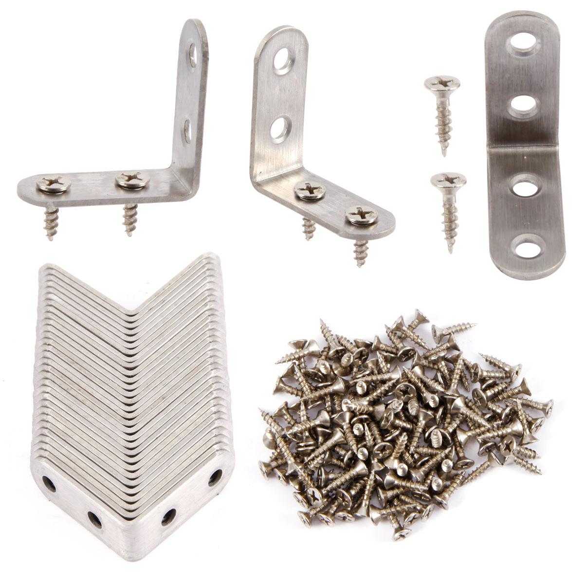 Edelstahl Eckverbinder Eckhalterung L Form Halter 20mmx20mmx16mm 10stk