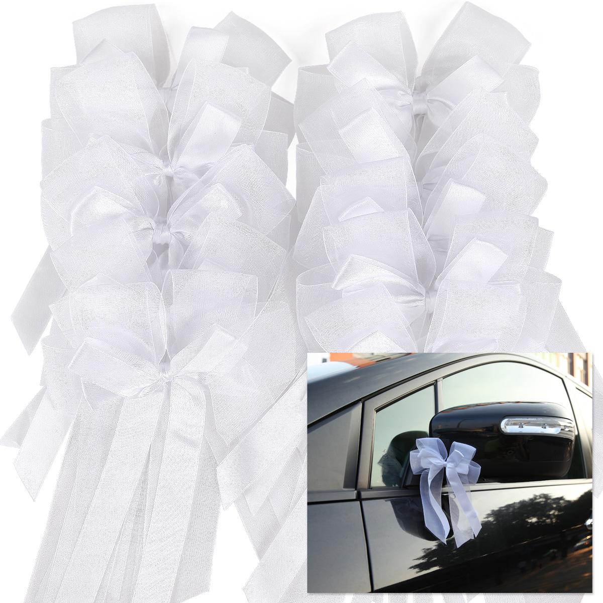 10 gross antennenschleifen autoschleifen autoschmuck organza hochzeit deko sure ebay. Black Bedroom Furniture Sets. Home Design Ideas