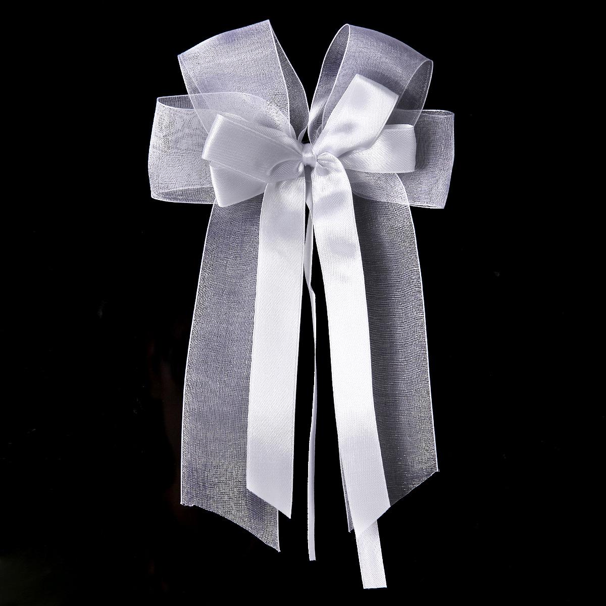 10 x weiß Hochzeit Autoschmuck Antennenschleifen Autoschleifen Türschleifen