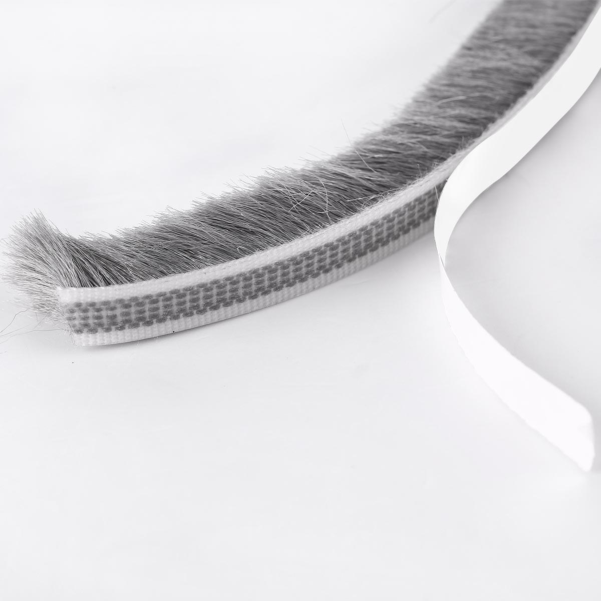 paraspifferi parafreddo guarnizione a spazzola adesiva porta e finestra grigio ebay. Black Bedroom Furniture Sets. Home Design Ideas
