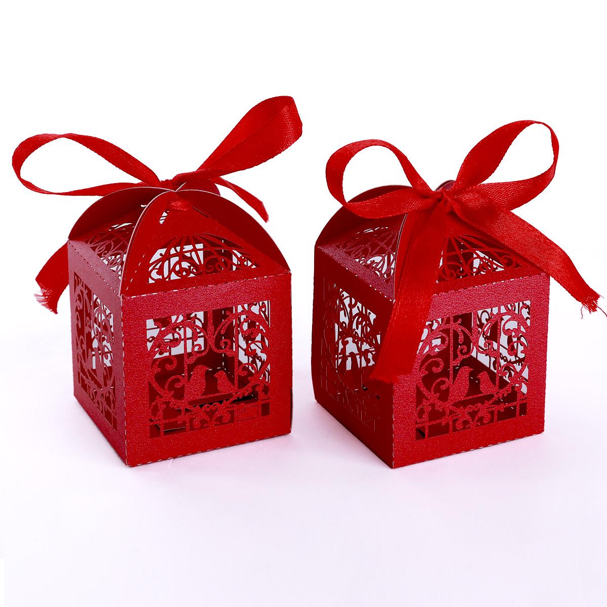 25 x hochzeit gastgeschenk geschenkbox rot bonboniere box kartonage hamburg. Black Bedroom Furniture Sets. Home Design Ideas