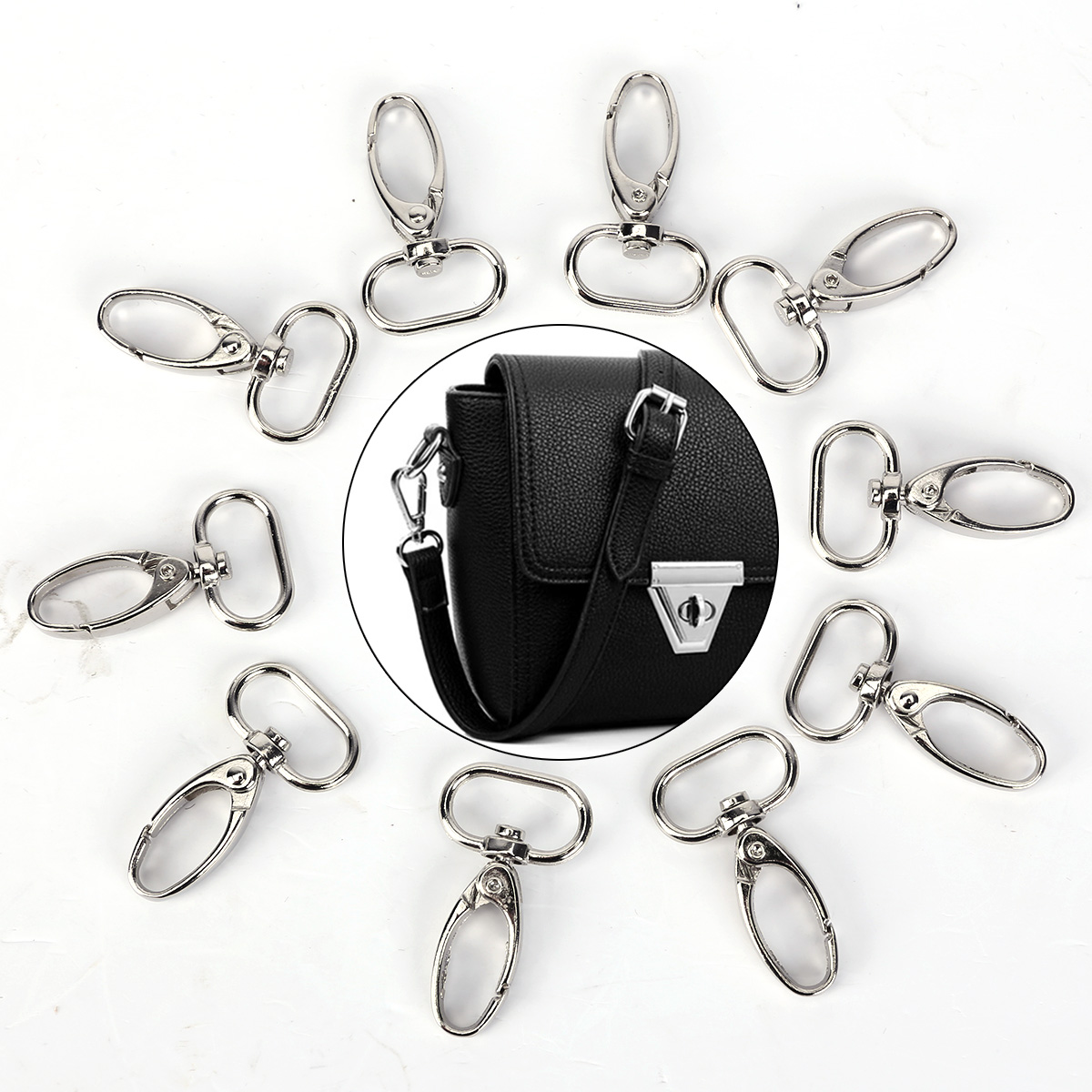 10Pcs Alloy Swivel Lobster Claw Clasps Swivel Snap Hooks for bag//purse//handmade