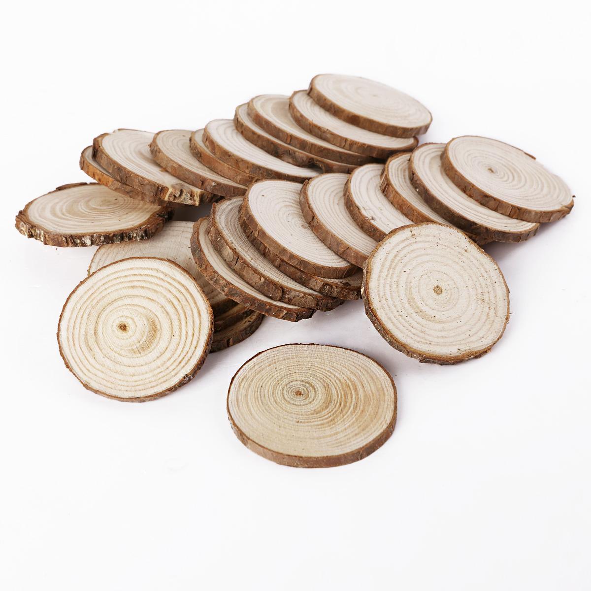 Natural wood pine tree slice disc wedding