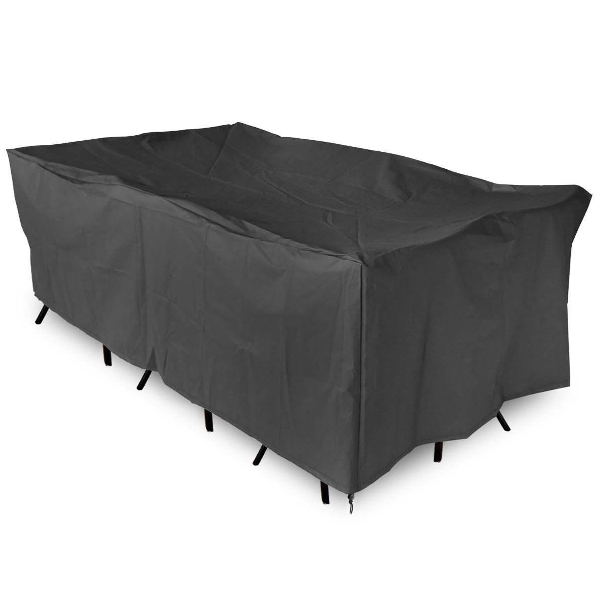 Funda cubierta flexible impermeable para mesa muebles for Fundas para mesas de jardin