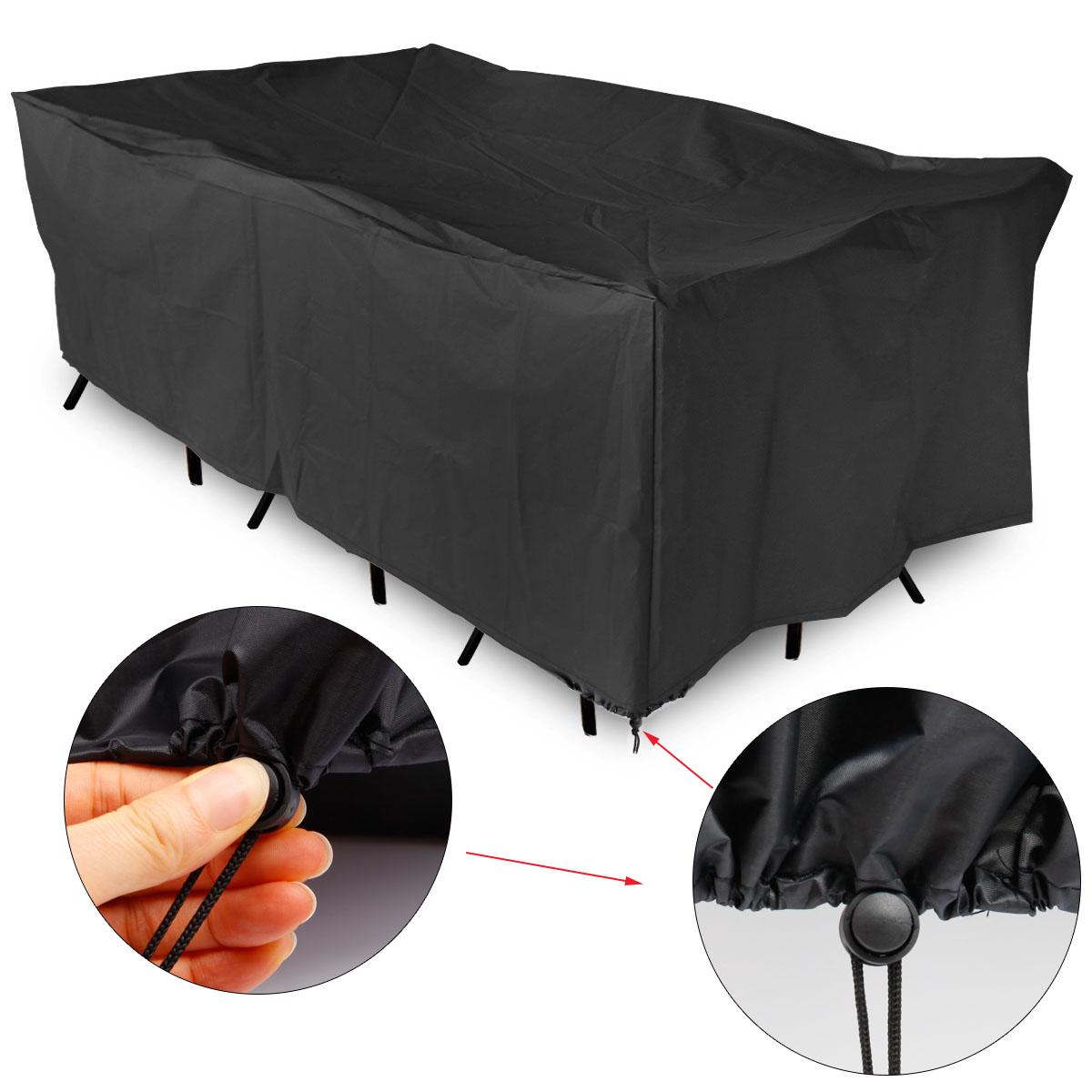 Funda cubierta flexible Impermeable para Mesa Muebles Exterior de ...