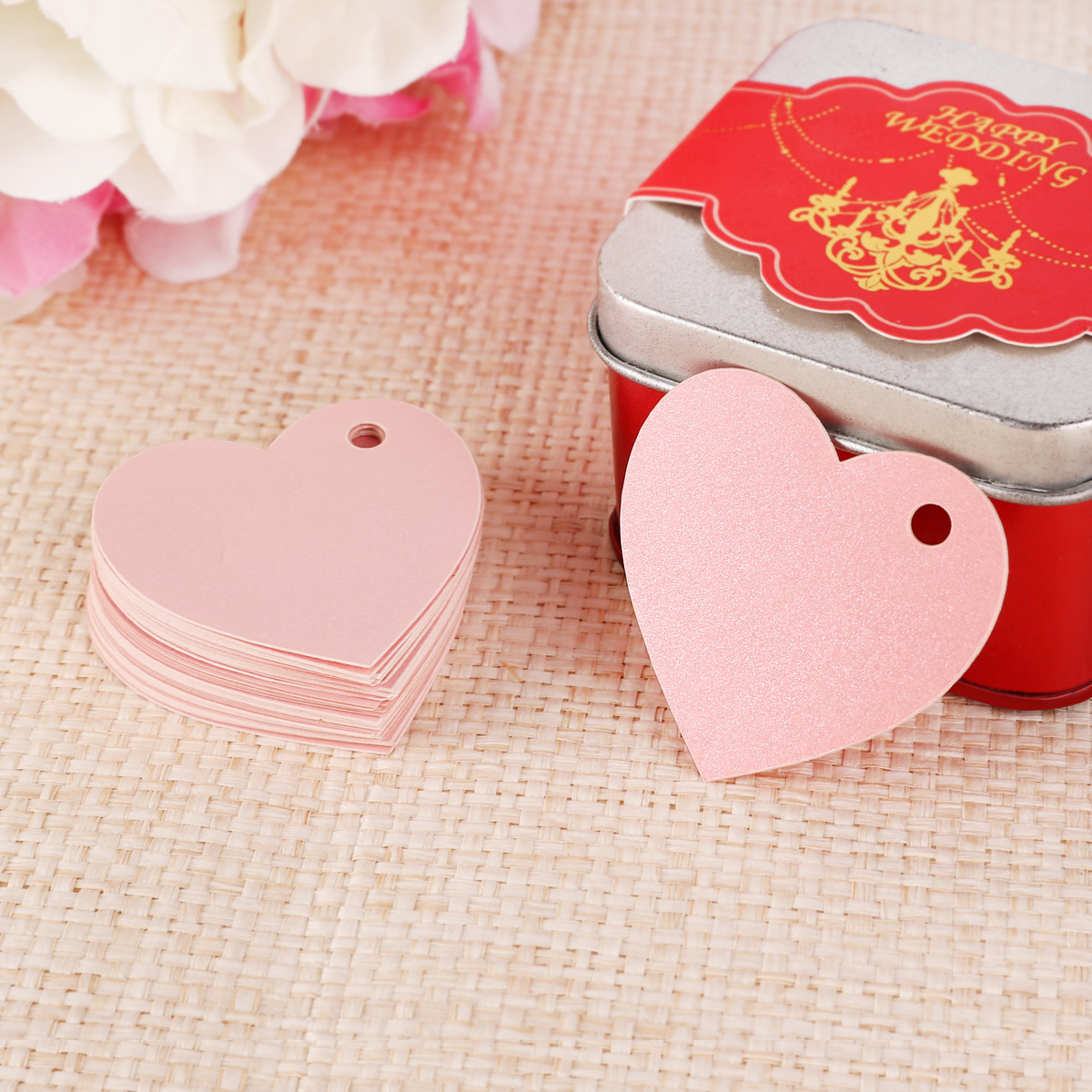 200x Wedding Shower Favor Gift Tags Labels Name Place Card Stickers ...