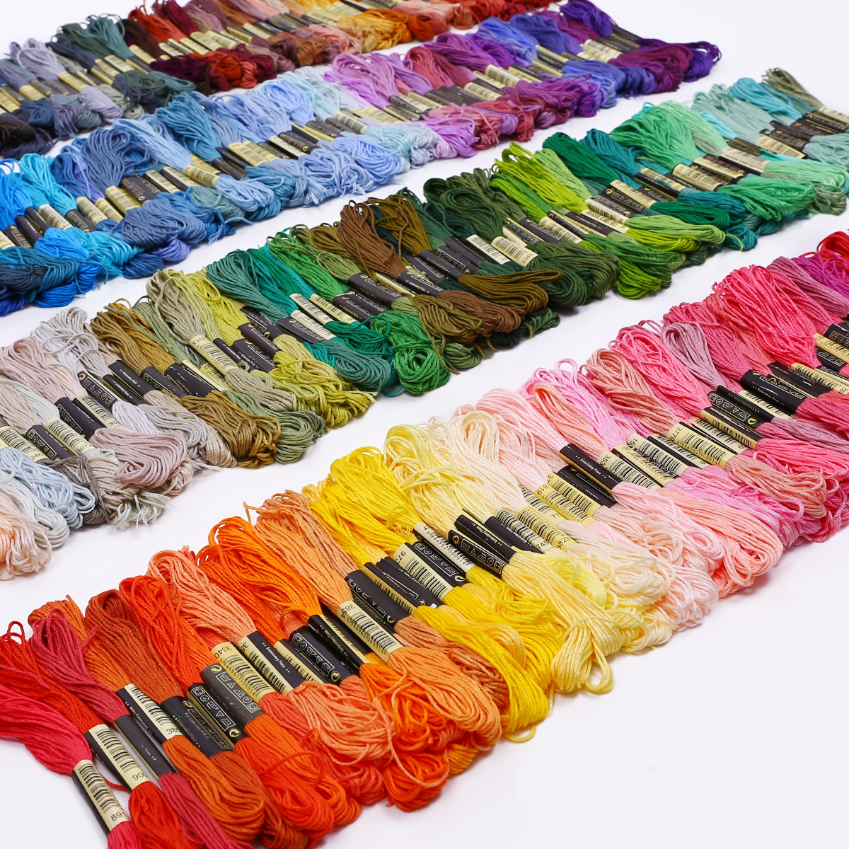 50-300-Color-Cross-Stitch-Thread-Embroidery-Floss-Sewing-Skeins-100-Cotton-Line thumbnail 3