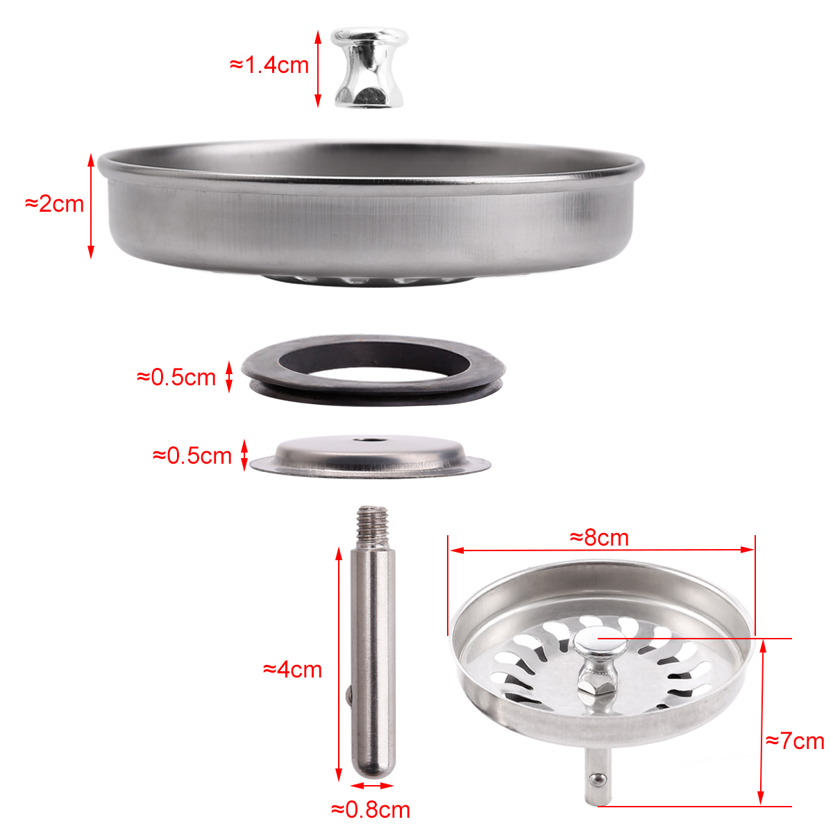 Rubber Kitchen Sink Strainer