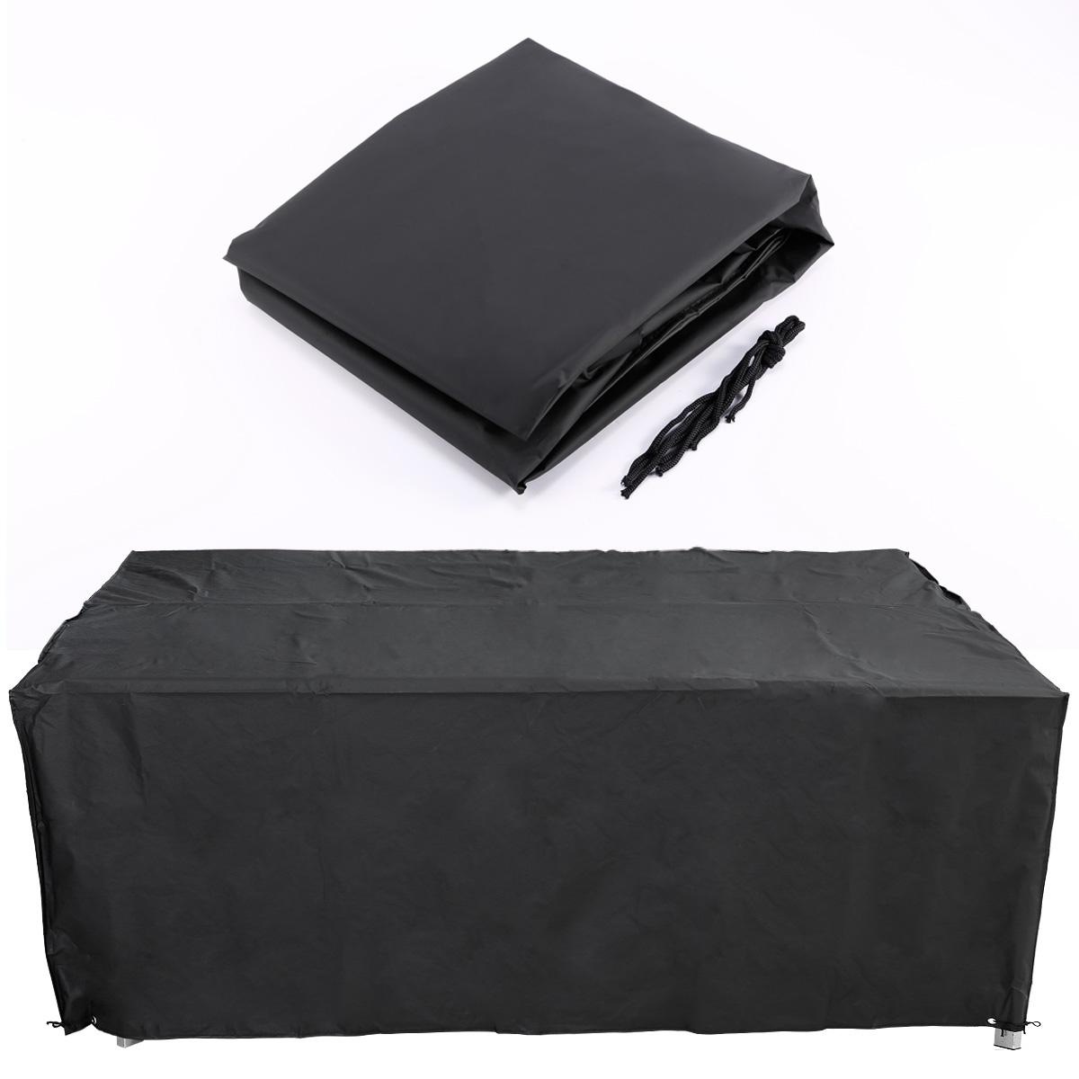 Cubierta flexible para mesa Muebles de Jardín terraza Color Negro ...