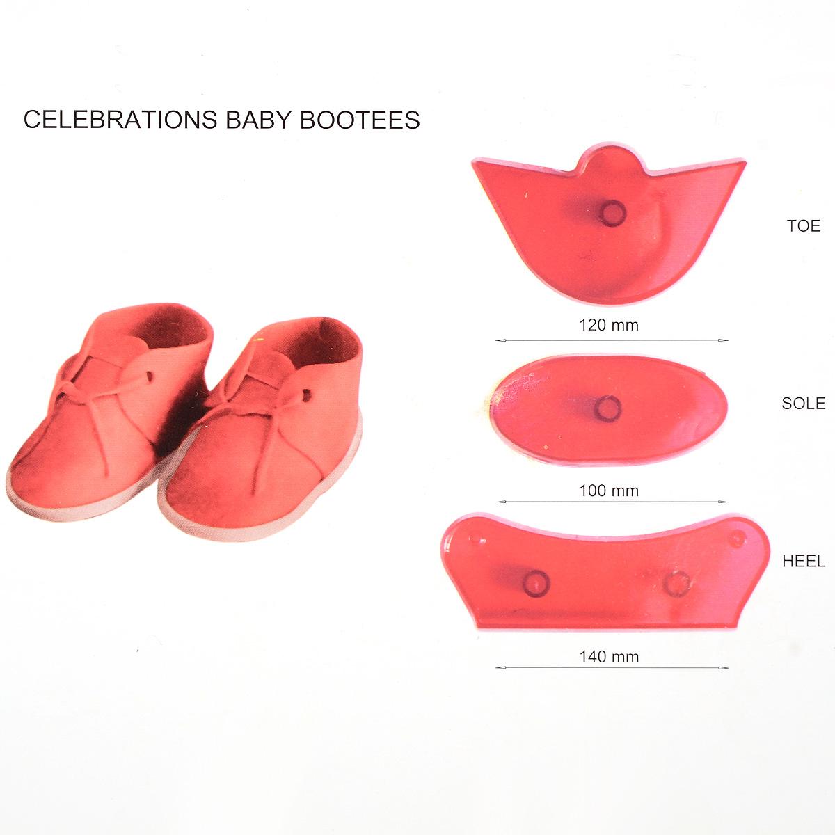 Kit 3pcs moule plastique chaussure b b pour p te sucre for Kit gateau pate a sucre