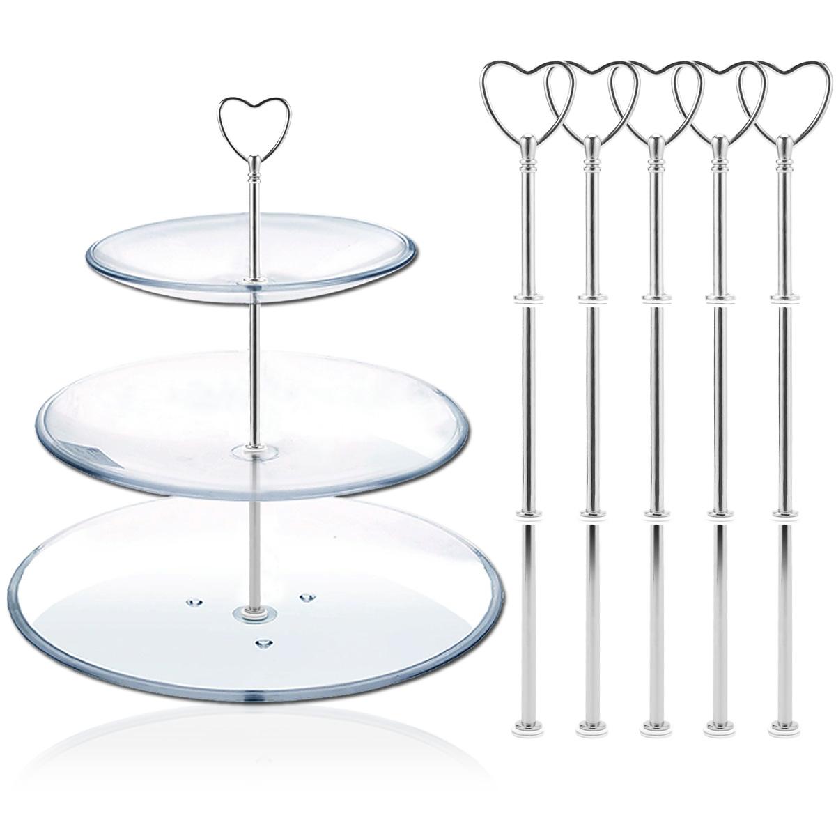 5 support poign e coeur pour assiette plateau 3 tage pr sentoir gateau cupcake ebay. Black Bedroom Furniture Sets. Home Design Ideas