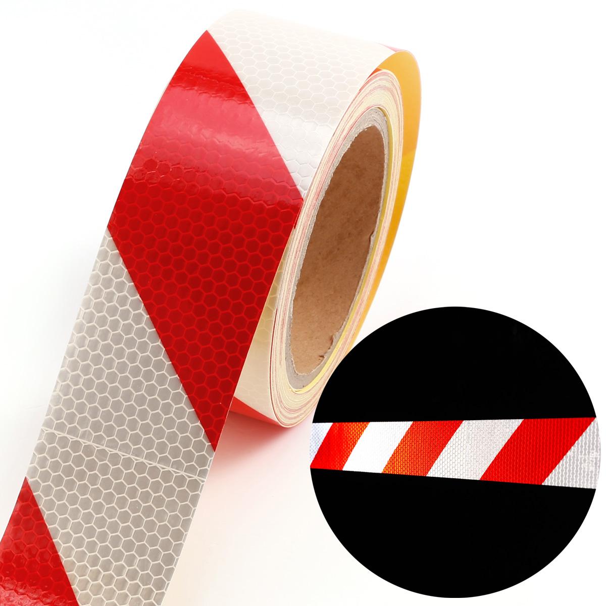10m bande r fl chissant ruban adh sif autocollant s curit v lo moto rouge blanc ebay. Black Bedroom Furniture Sets. Home Design Ideas