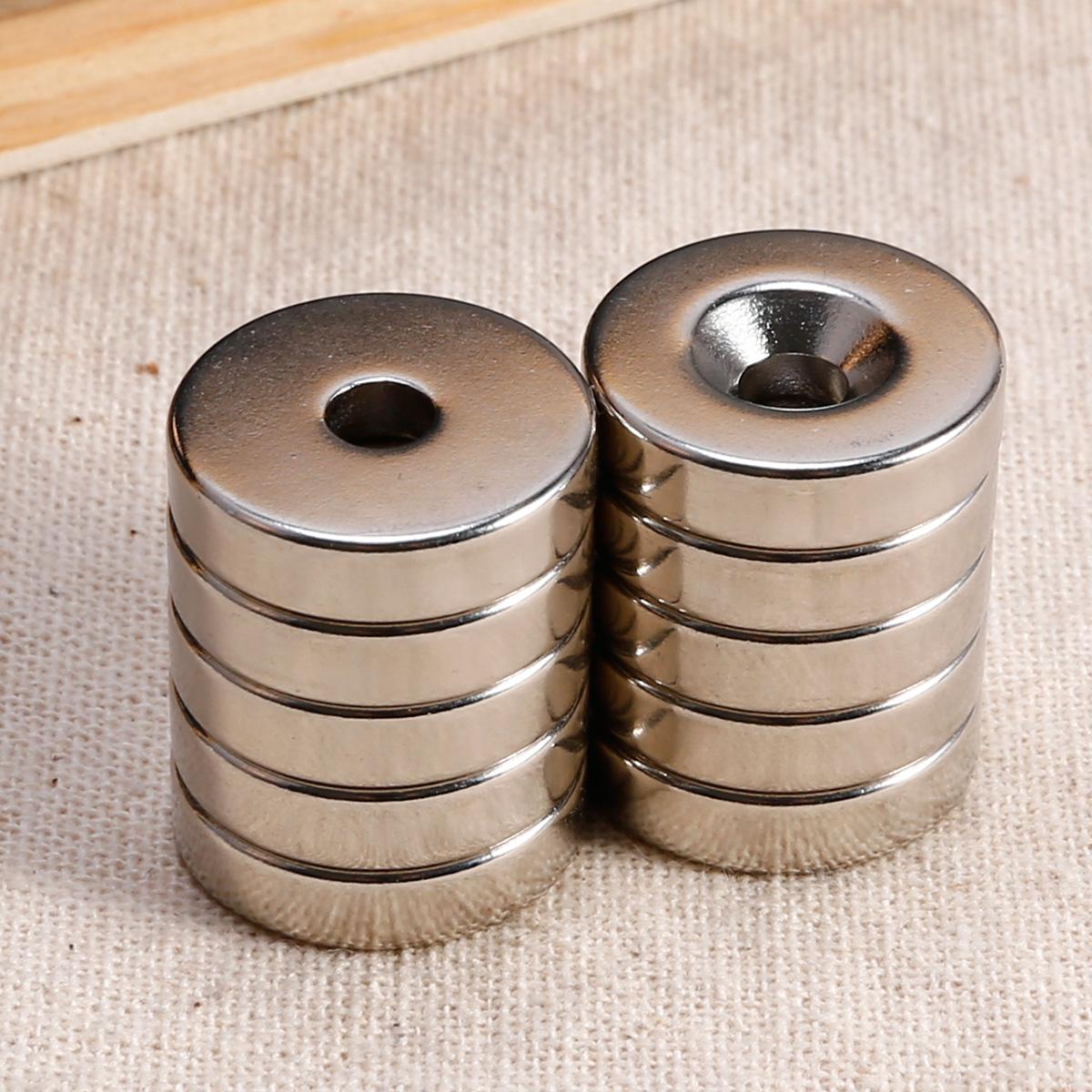 10er 20 5mm n50 neodym runde scheibe magnete mit loch pinnwand b ro ebay. Black Bedroom Furniture Sets. Home Design Ideas