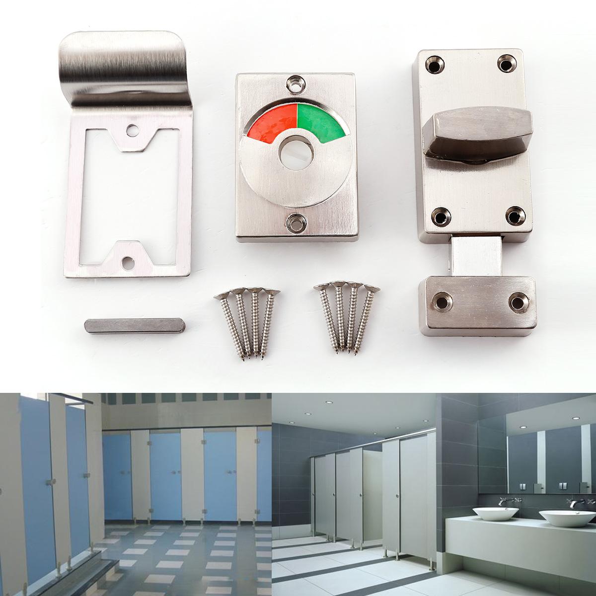 toilette badezimmer wc facility t rschloss toilettenriegel t rriegel schrauben ebay. Black Bedroom Furniture Sets. Home Design Ideas