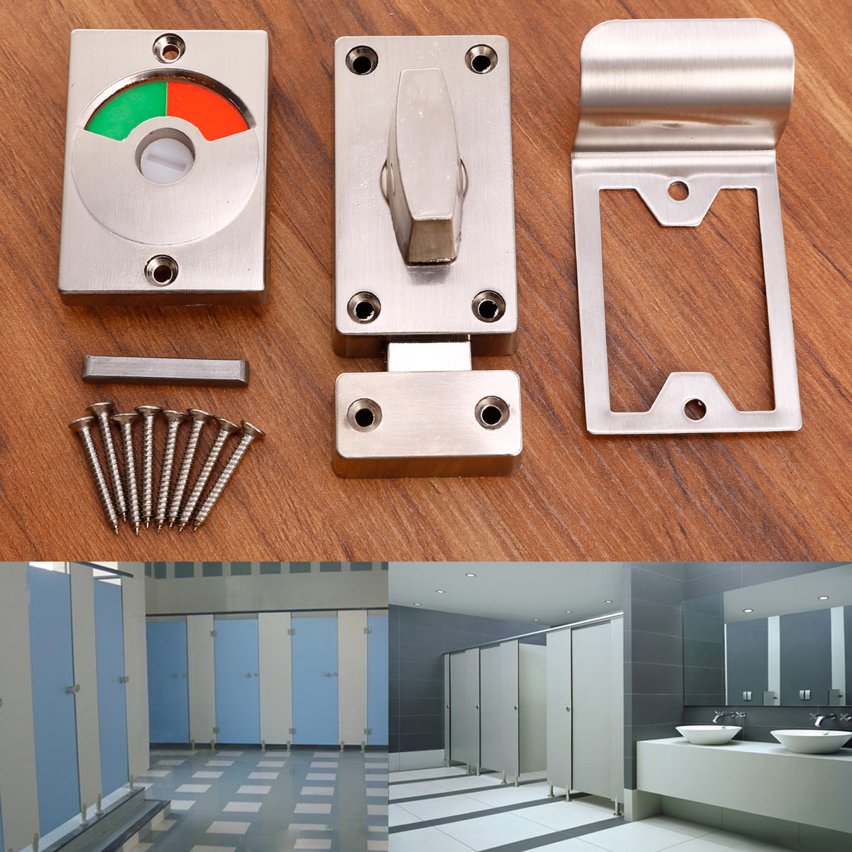 Details zu Bad Schloss Türschloss Verriegelung & Schrauben für WC Toilette  Badezimmer