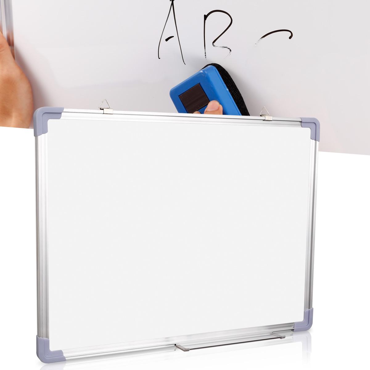 tableau blanc magnetique cadre aluminum ecriteau memo bureau stylo brosse aimant ebay. Black Bedroom Furniture Sets. Home Design Ideas