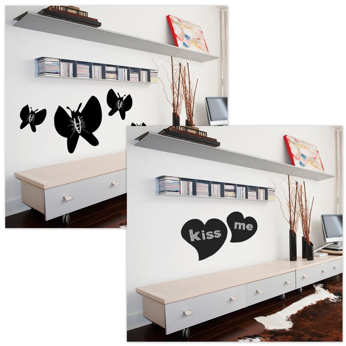2m 60cm tafelfolie wandaufkleber selbstklebend tafel board. Black Bedroom Furniture Sets. Home Design Ideas
