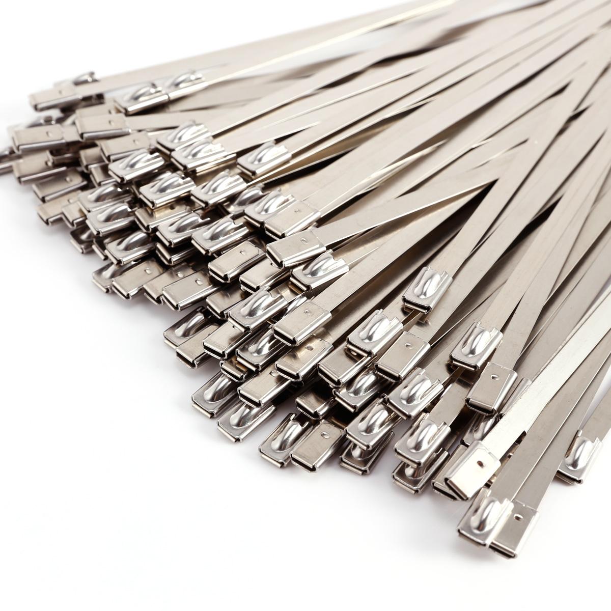 100 x Edelstahl Kabelbinder Metall Kabelbinder Hitzeschutzband ...