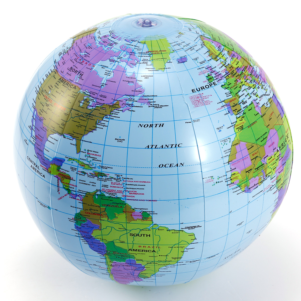 Inflatable globe blow up world map atlas ball earth 40cm fancy dress inflatable globe blow up world map atlas ball earth 40cm fancy dress toy fun new gumiabroncs Image collections
