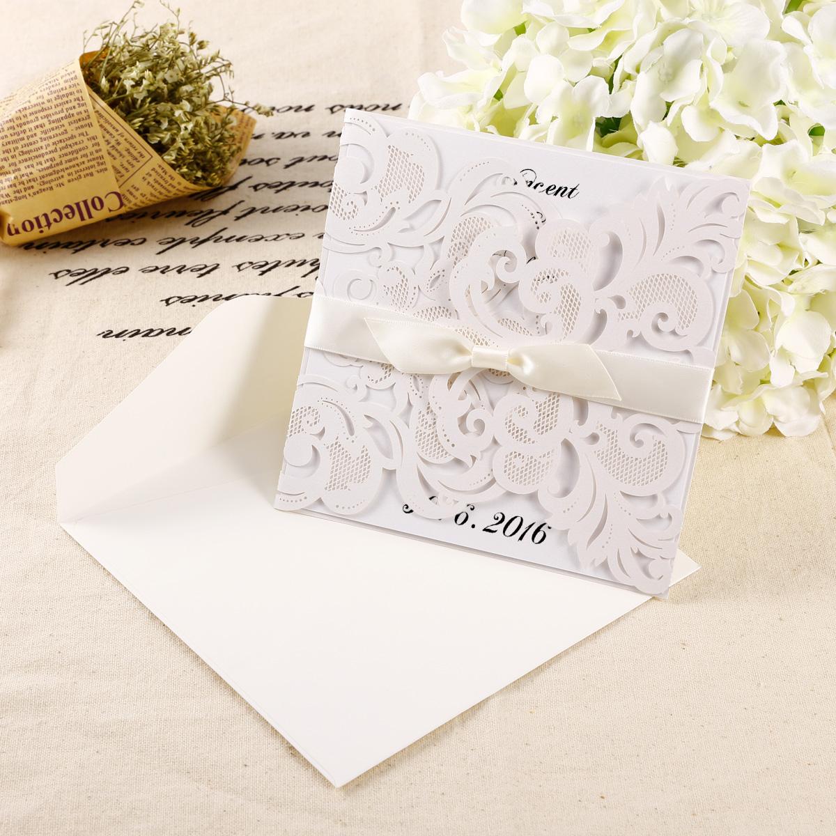 10er laser cut einladungskarten spitze design geburtstag hochzeit einladung ebay. Black Bedroom Furniture Sets. Home Design Ideas
