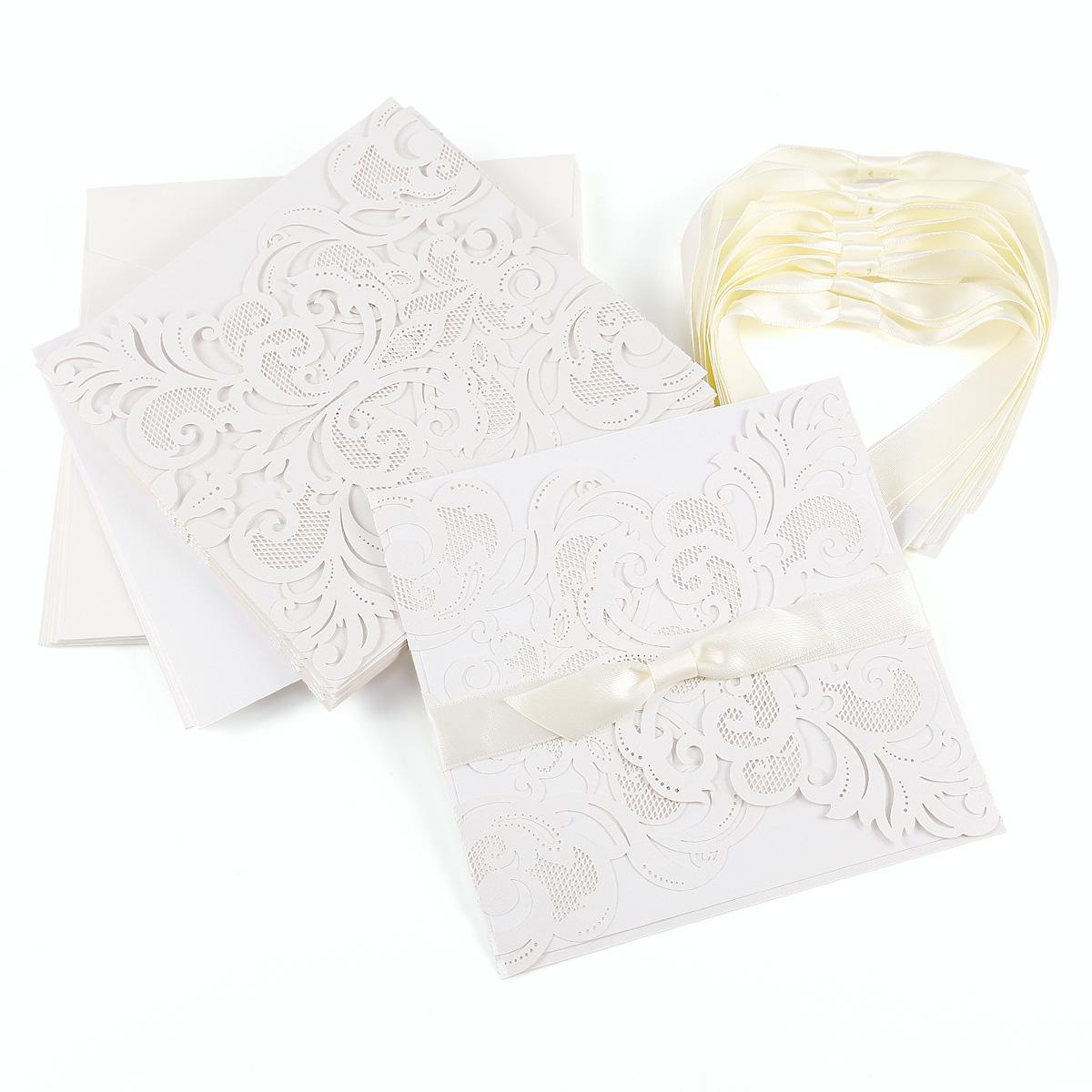 Papier Einladungskarten Einladung Set Mit Umschlag Hochzeit Taufe