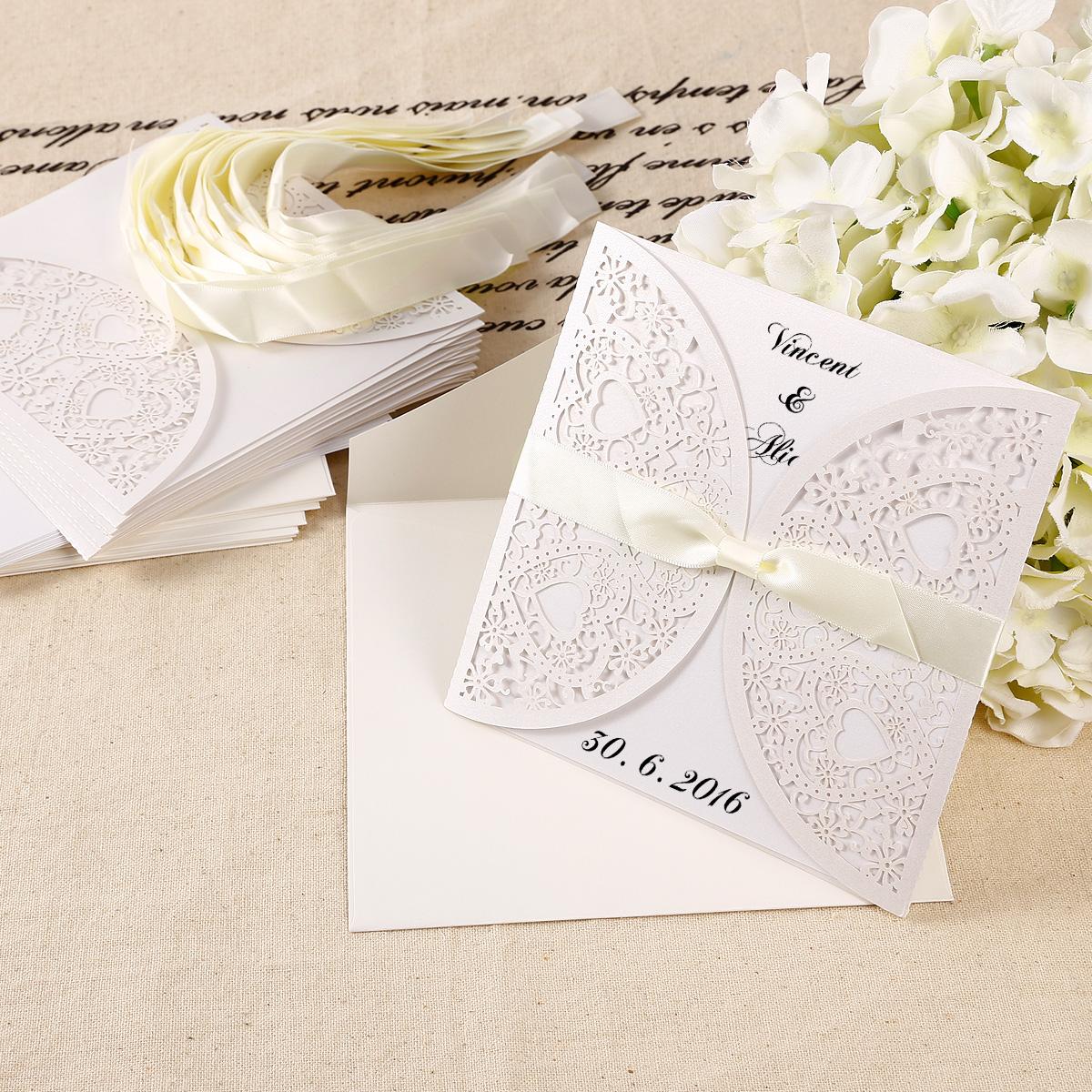 Papier Einladungskarten Einladung U0026 Umschlag Set Hochzeit Party Geburtstag