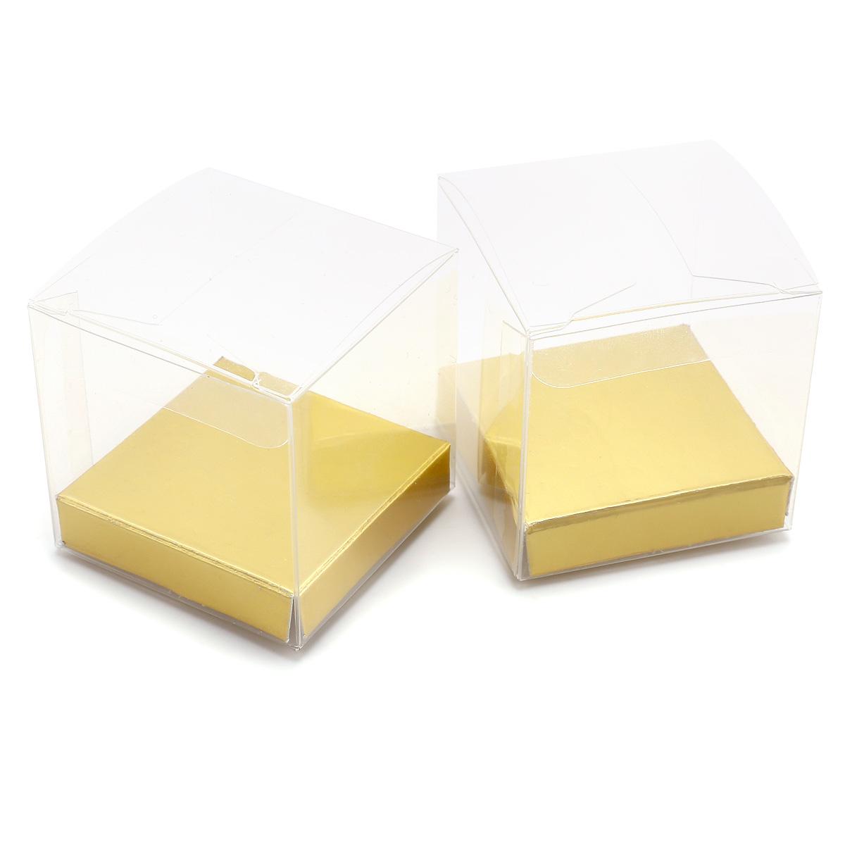 50//100 x transparent Bonboniere Box Geschenkbox Aufbewahrungsbox für Süßigkeiten