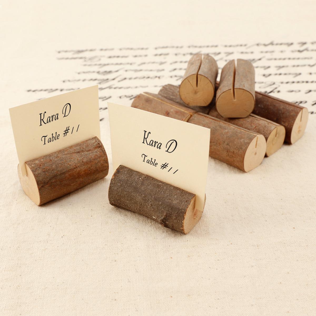 10 x Holz Ministaffelei Platzkarte Tischkartenhalter Namesschild Weihnachten