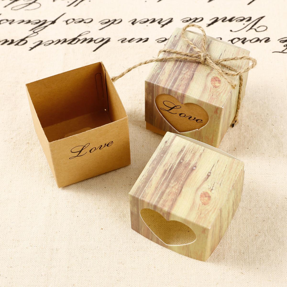 50 x kraftpapier s igkeiten geschenkbox dekobox geschenkverpackung hochzeit ebay. Black Bedroom Furniture Sets. Home Design Ideas