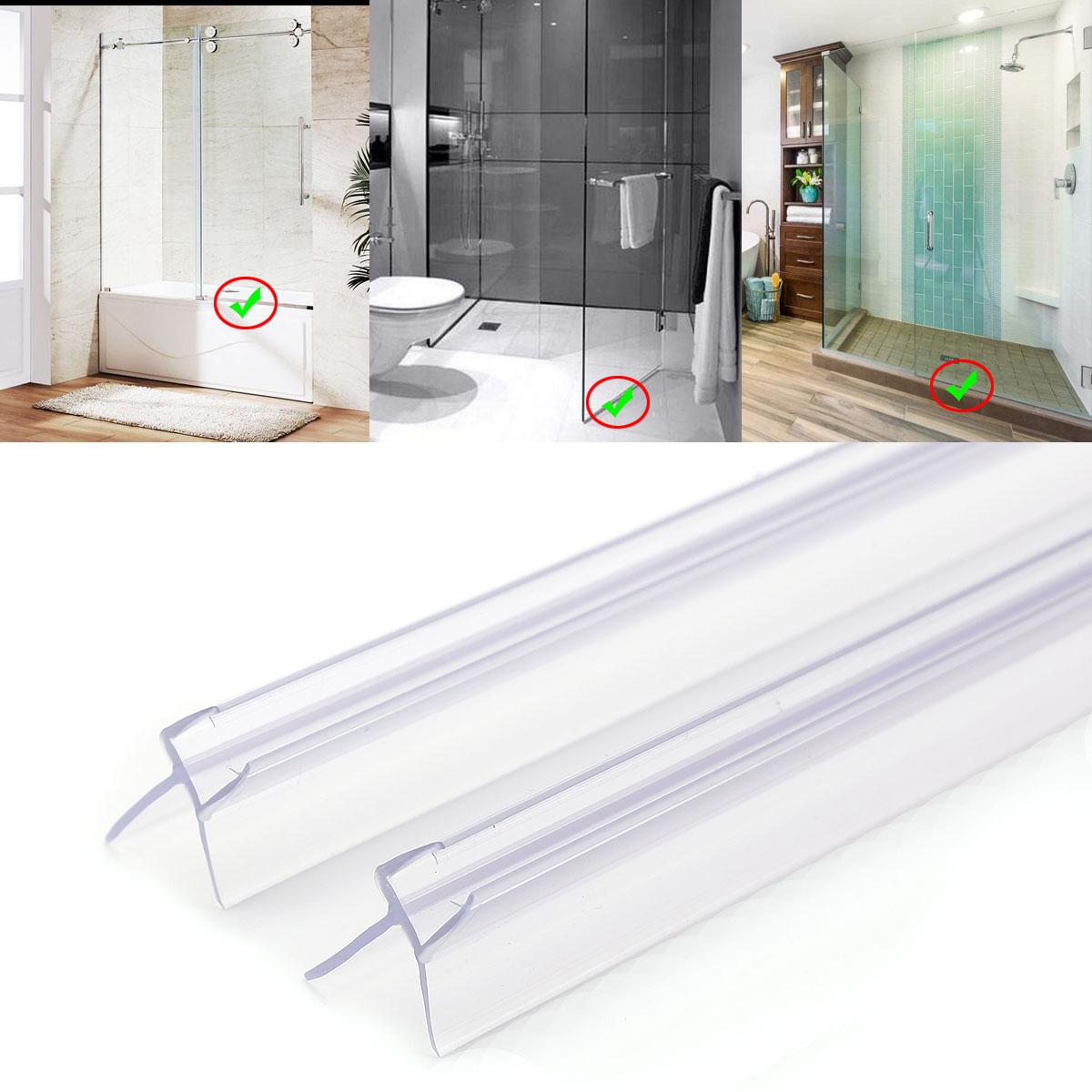 2x l 90cm joint d 39 tanch it pvc pour porte de douche verre pai 6mm 8mm ebay. Black Bedroom Furniture Sets. Home Design Ideas