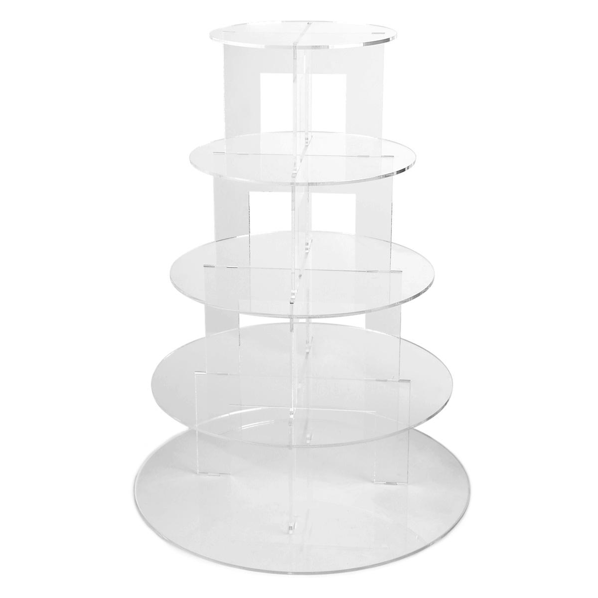 5 etages pr sentoir g teau acrylique support stand mariage f te cupcake muffin ebay. Black Bedroom Furniture Sets. Home Design Ideas
