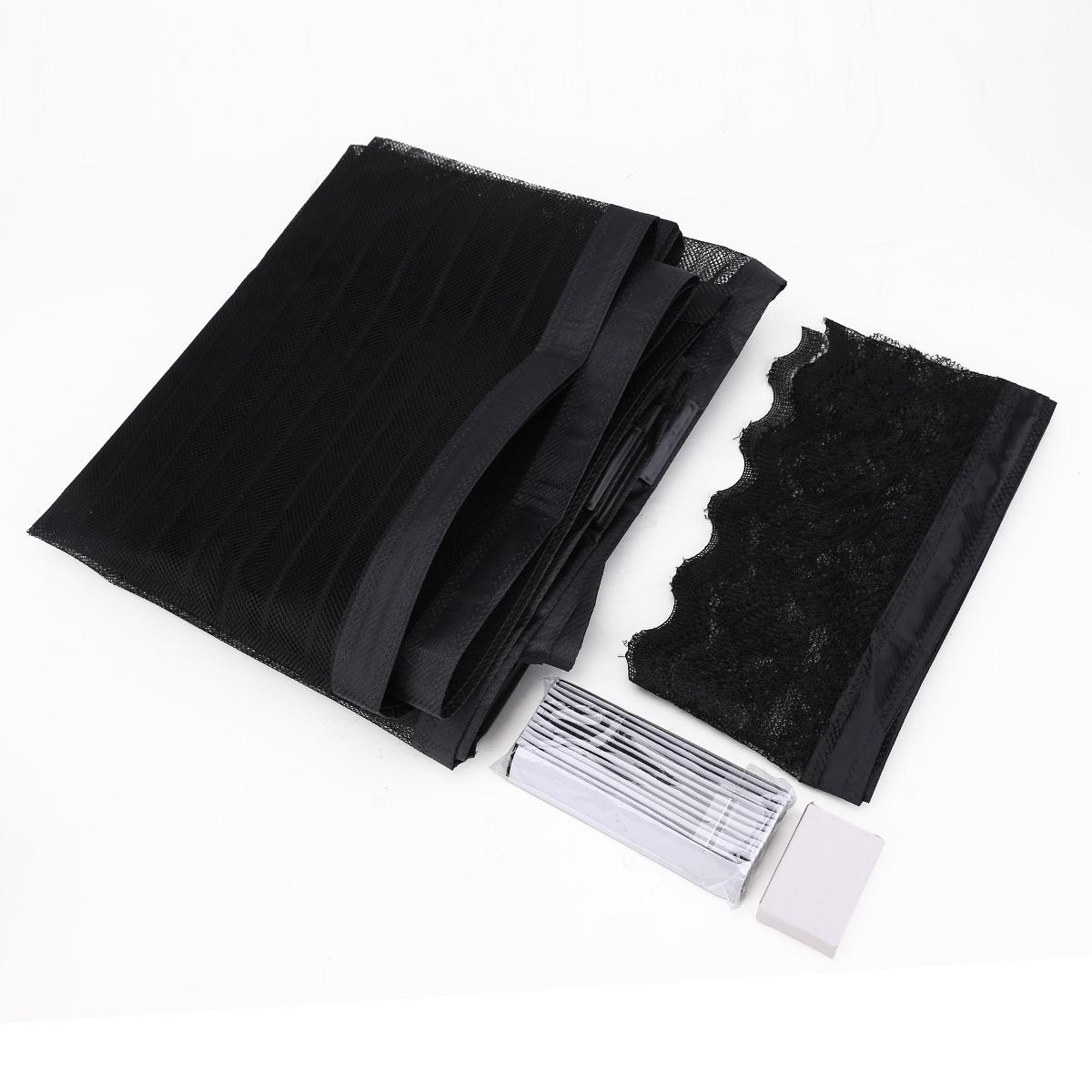 Cortina mosquitera velcro magn tica 100x210cm negro stripe for Velcro para mosquitera