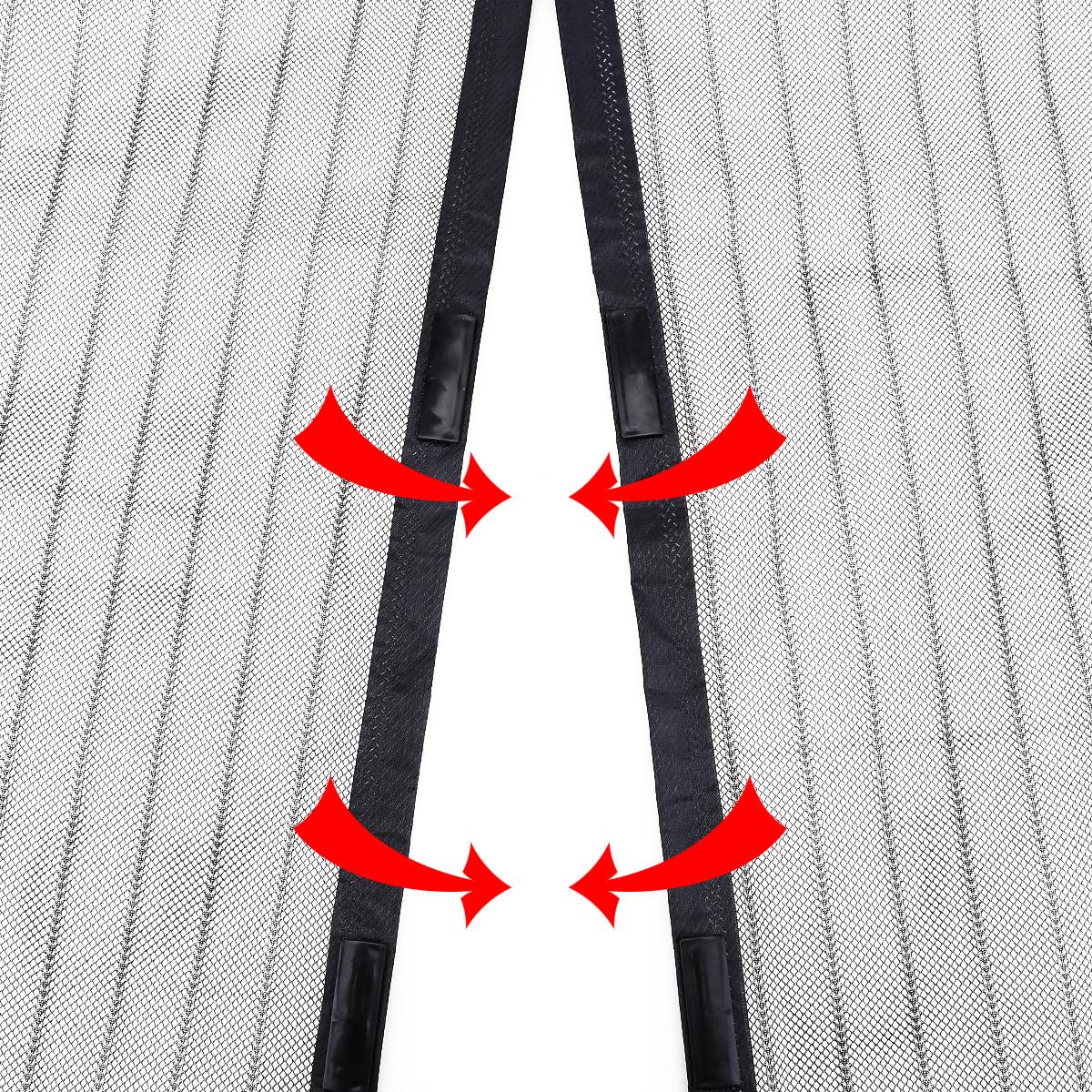Cortina mosquitera velcro magn tica 100x220cm color negro for Mosquitera magnetica puerta