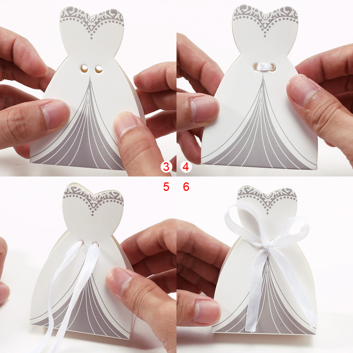 180x Wedding Bride Groom Tuxedo Ribbon Dress Party Favor Boxes Gift ...