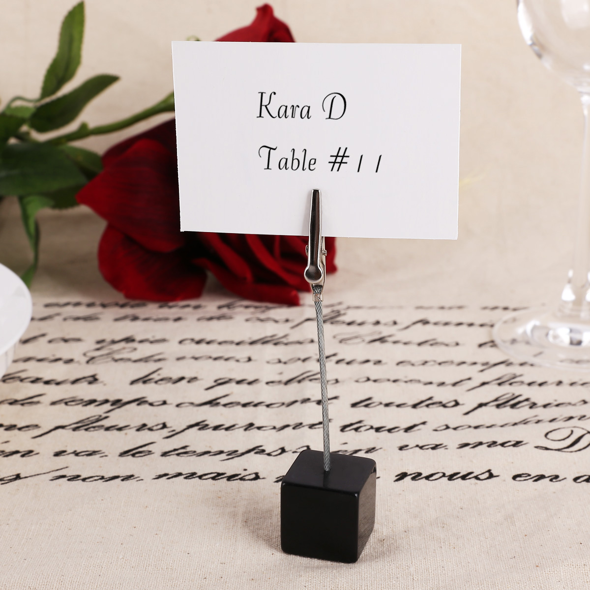 10x wedding office meeting place card holders table for Place settings name card holders