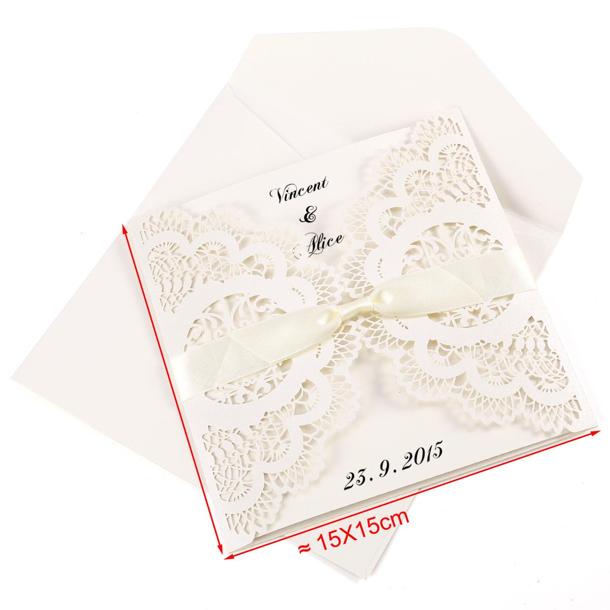 10pz inviti partecipazione per matrimonio feste carta for Inviti per matrimonio