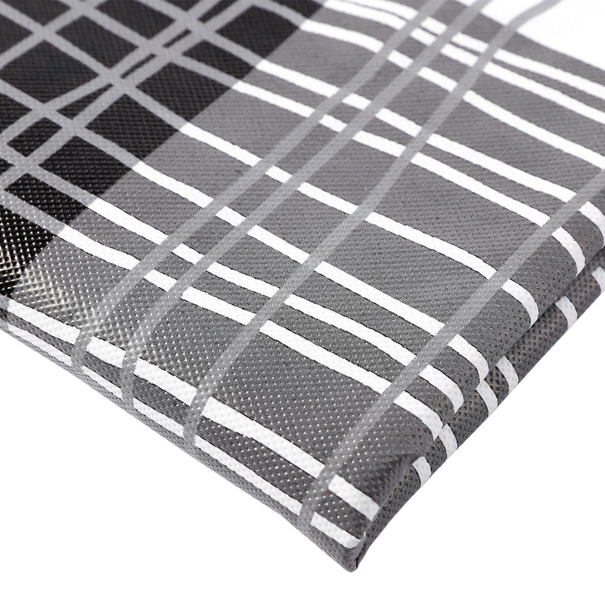 nappe en pvc rectangulaire 200x140cm tartan cossais blanc et noir ebay. Black Bedroom Furniture Sets. Home Design Ideas