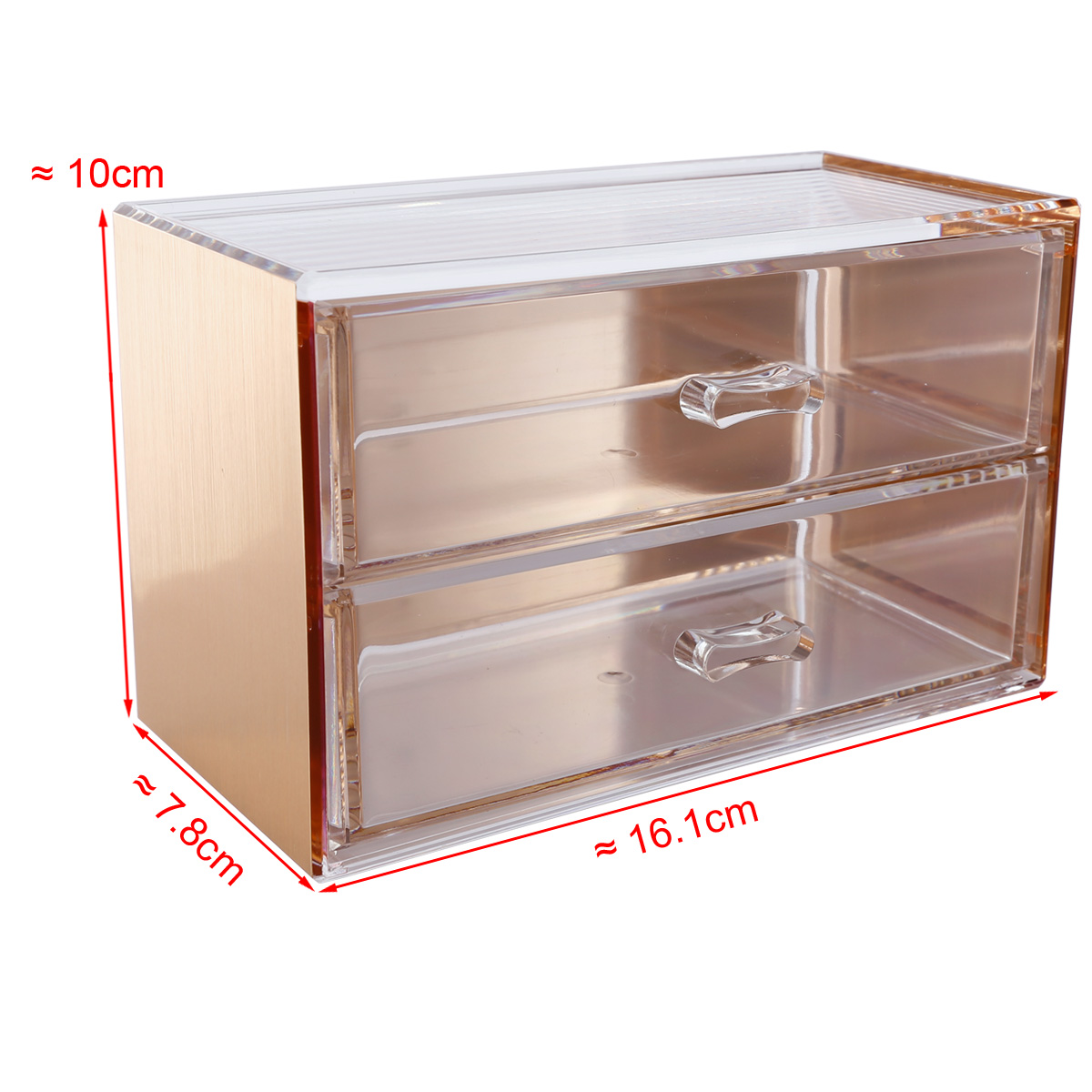 rosegold kosmetik organizer make up acryl aufbewahrung kosmetikbox auswahl ebay. Black Bedroom Furniture Sets. Home Design Ideas