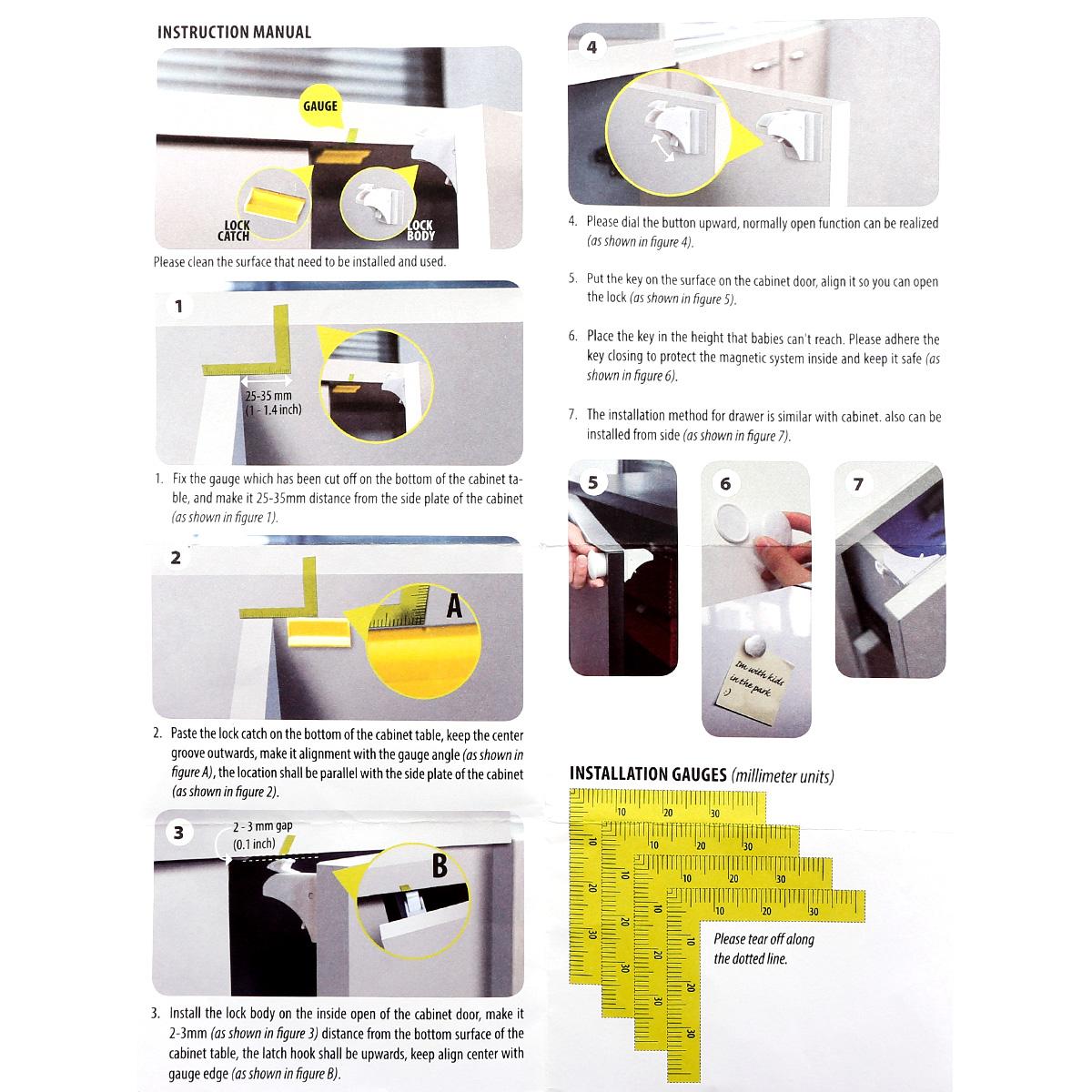 8 serrures magn tique 2 cl bloque porte tiroir placard s curit b b enfant ebay. Black Bedroom Furniture Sets. Home Design Ideas